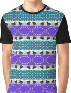 Rose Pattern Stripes Graphic T-Shirt