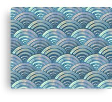 Colorful fish scales pattern Canvas Print