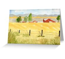 Eastern Oregon Rural Greeting Card