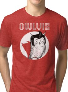 Owlvis - Owl illustration  Tri-blend T-Shirt