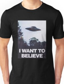 The X-Files I Want To Believe Unisex T-Shirt