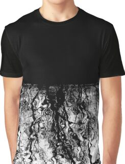 Black and White Wiggly Tree Reflections in Water Graphic T-Shirt