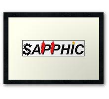 Sapphic- Butch version Framed Print