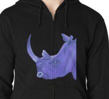 Purple Rhino Zipped Hoodie