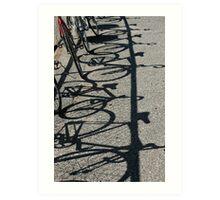 Track bikes at Edwardstown Art Print