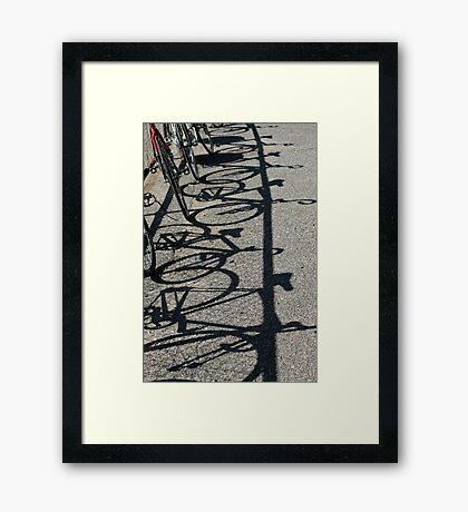 Track bikes at Edwardstown Framed Print