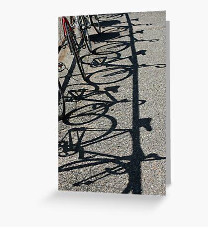 Track bikes at Edwardstown Greeting Card