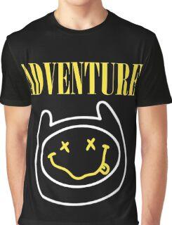 Adventure Time - Nirvana Mashup Graphic T-Shirt