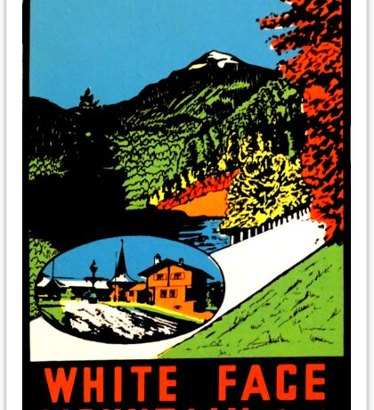 Whiteface Mountain Vintage Travel Decal Sticker