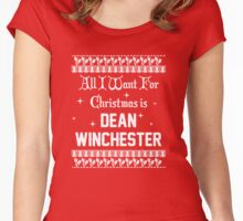 All I want For Christmas is Dean Winchester  Women's Fitted Scoop T-Shirt