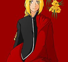 Edward Elric - Flowers by BarbaraJHarris