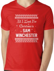 All I want For Christmas is Sam Winchester  Mens V-Neck T-Shirt