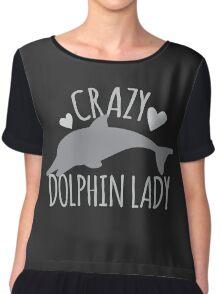 CRAZY Dolphin lady Chiffon Top