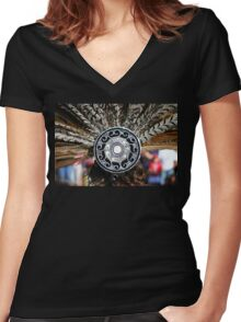 Feather Headdress Women's Fitted V-Neck T-Shirt