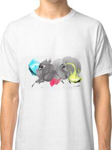 CMYK Ink Brush Fox Classic T-Shirt