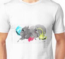 CMYK Ink Brush Fox Unisex T-Shirt