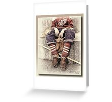 The Hockey Player Greeting Card