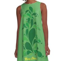 Green Christmas Tree A-Line Dress