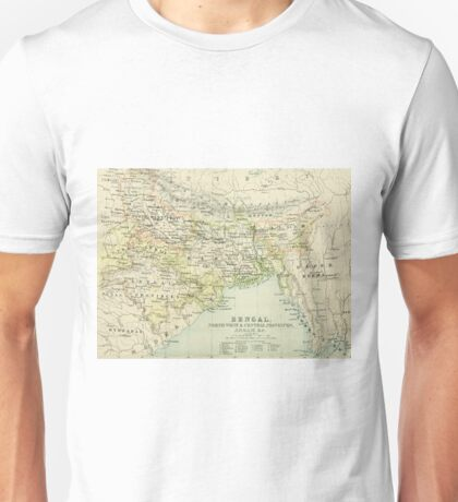 Old map of Bengal Unisex T-Shirt