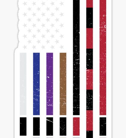 BJJ Stars and Stripes Sticker