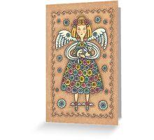 YOYO QUILT ANGEL Greeting Card