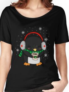 Cocoa Time Penguin Women's Relaxed Fit T-Shirt