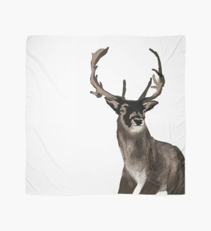 A Stag In Winter Scarf