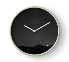 Dark mountains Clock