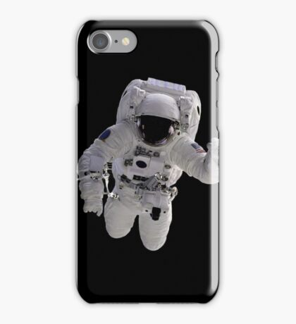 Astronaut on Black iPhone Case/Skin
