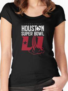 Super Bowl LI 2017 rocket ball Women's Fitted Scoop T-Shirt