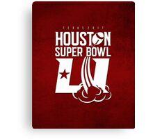Super Bowl LI 2017 rocket ball Canvas Print