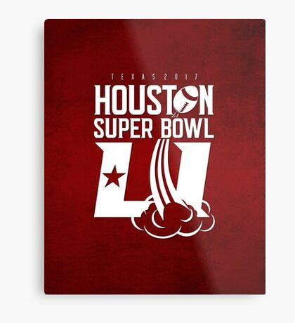 Super Bowl LI 2017 rocket ball Metal Print