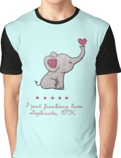 I just freaking love elephants Graphic T-Shirt