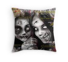 zombie girls Throw Pillow