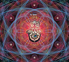 Hamsa - CHAI - Sacred Geometry by Olga Kuczer
