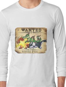 Johto Starters Alola Forms - Most Wanted Poster Long Sleeve T-Shirt