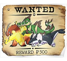 Johto Starters Alola Forms - Most Wanted Poster Poster