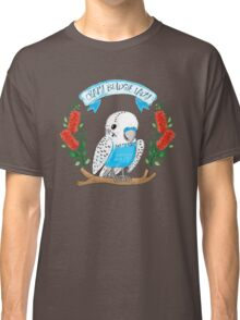 Crazy Budgie Lady (with banksia flowers) Classic T-Shirt