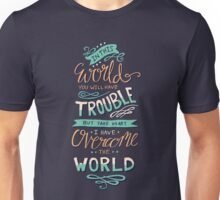 Overcome The World - Bible Verse Lettering Typography Unisex T-Shirt