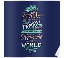 Overcome The World - Bible Verse Lettering Typography Poster