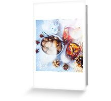 Christmas decorations with festive mood Greeting Card