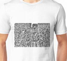 Brick chimney and wooden shingles. Unisex T-Shirt