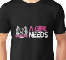 A Girl Needs Shoes Horse Racing Equestrian Jumping Gift T-Shirt Unisex T-Shirt
