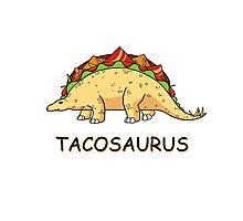 Funny Tacosaurus Dinosaur Tacos Food Mexican T-Shirt Photographic Print
