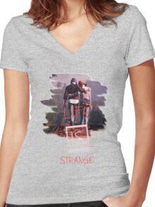 L.I.S. Train Love Women's Fitted V-Neck T-Shirt