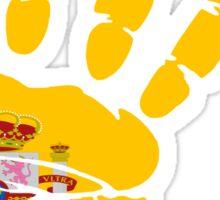 Spain flag in handprint Sticker
