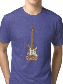 Vintage Psychedelic Guitar Tri-blend T-Shirt