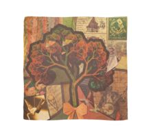 Beautiful Fractal Collage of an Endless Origami Autumn Scarf
