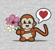 Flower Monkey Love One Piece - Long Sleeve