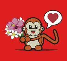 Flower Monkey Love Kids Tee